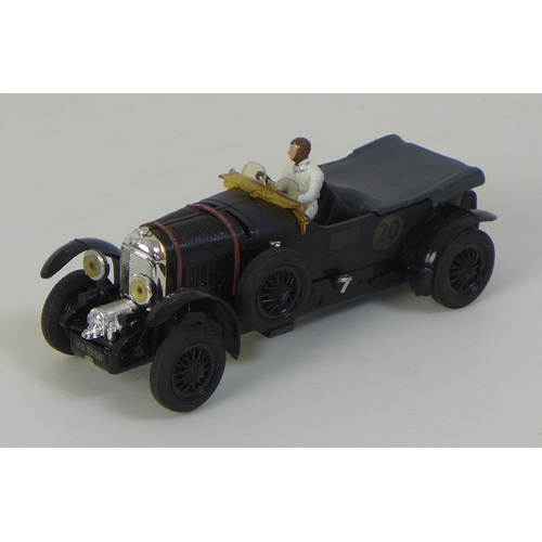 128 - A Tri-ang Scalextric Minimodels Ltd model car, model C.64 Bentley, circa 1965, in black with black w...