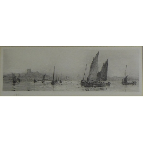 162 - William Lionel Wyllie RA, RE, RI (British, 1851-1931): 'Tarbert, Loch Fyne', etching, signed in penc...
