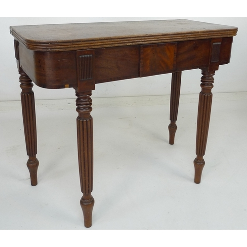 224 - A 19th century mahogany tea table, 90 by 44 by 75cm high....