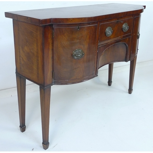 250 - A small Georgian mahogany sideboard, 122 by 47.5 by 90cm high....