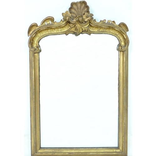 246 - A Victorian gilt framed overmantel mirror, 63.5 by 9 by 102cm high....