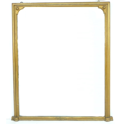 230 - A Victorian gilt framed overmantel mirror with original rectangular plate, 115 by 4.5 by 134cm high....