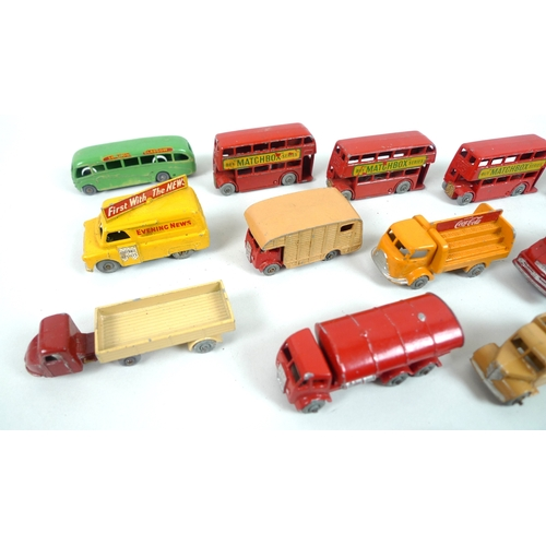 121 - A collection of vintage Moko Matchbox models by Lesney, dating from 1950s onwards including various ...