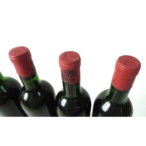 100 - Vintage Wine: five bottles of Chateau Lafite-Rothschild, 1966, Premier Grand Cru Classe, Pauillac, U...