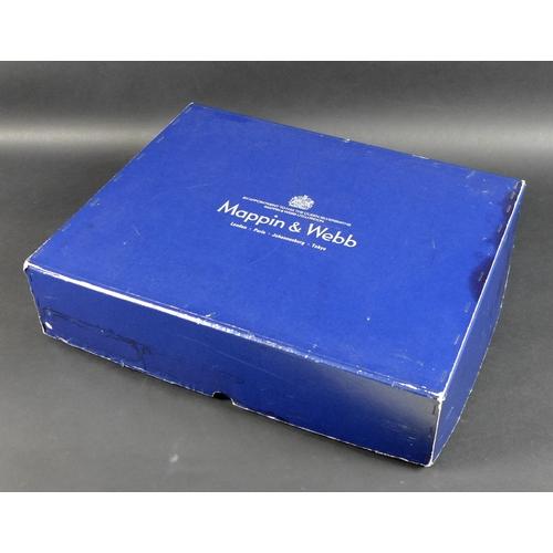 79 - A fine Elizabeth II silver canteen of cutlery by  Mappin & Webb in Harley pattern, comprising starte...