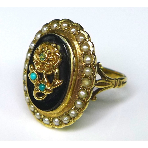 199 - A group of 9ct gold rings of Victorian design, comprising two cameo rings, one set against a carneli...