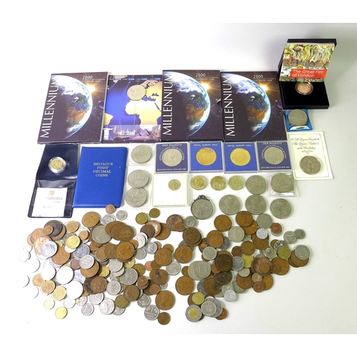 84 - A small group of commemorative and circulated UK coins, including a 2016 £2 silver proof Piedfort co...