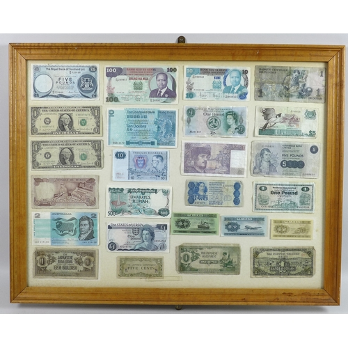 83 - A collection of one hundred and twenty nine UK and World bank notes, including a US Confederate Stat...