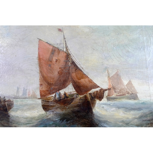 339 - George H. Knight (British, 1851-1922): a pair of marine scenes, 'Fishing off the Coast' and 'Fishing...