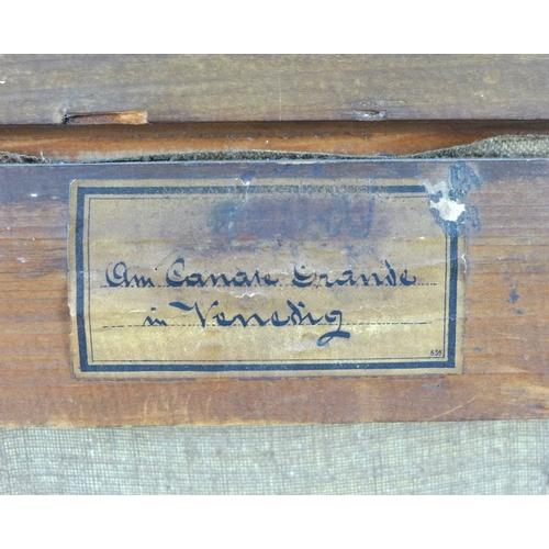 340 - Giuseppi Sartori (Italian, 1863-1922): 'On Canale Grande in Venezia', oil on canvas, signed lower ri...