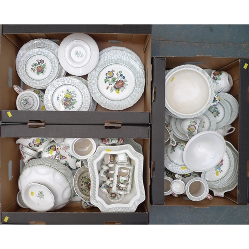 7 - A Mason's Ironstone part dinner, tea and coffee service, decorated in the 'Paynsley' pattern, includ...