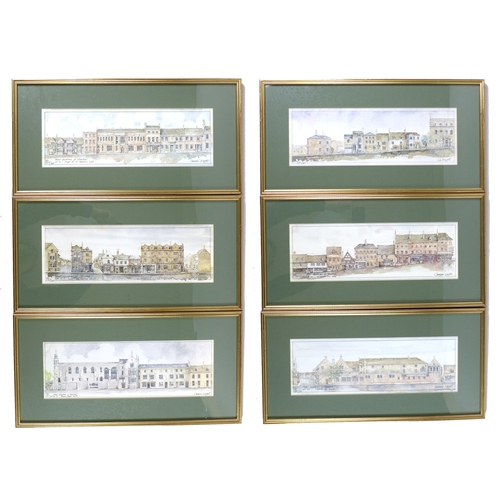 13 - A group of six prints of Stamford, after Graham Wright, limited editions of 500, showing 'street ele...