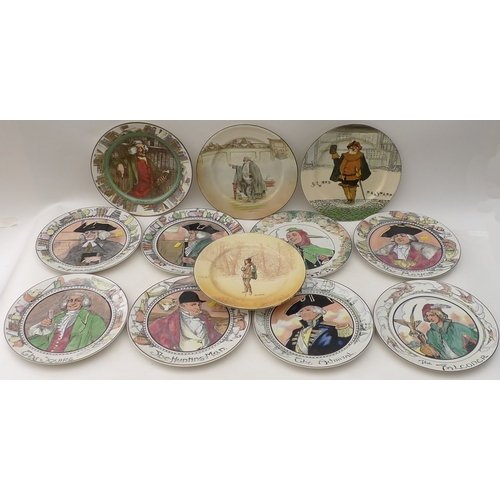 32 - A group of Royal Doulton seriesware plates, comprising The Doctor, The Jester, The Falconer, The Adm...