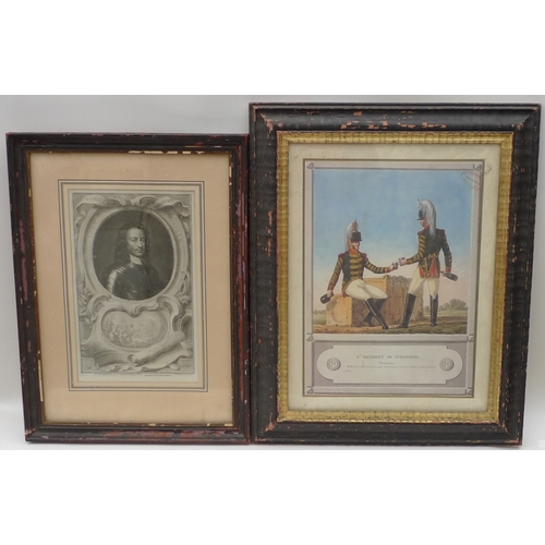 39 - Two prints, one 18th century, the other 19th century, both framed....