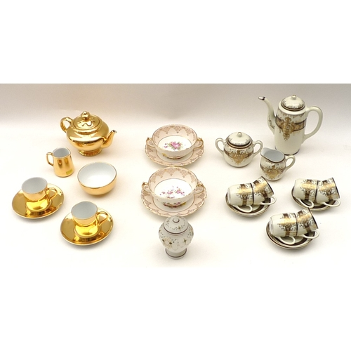 43 - A Royal Worcester 'Fireproof' part tea set, together with a Meito China Japanese part tea service an...