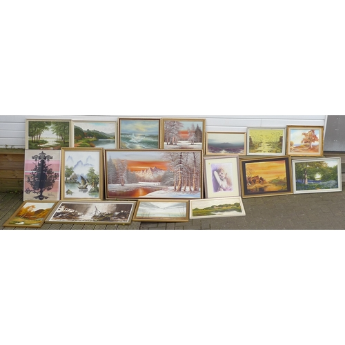 47 - A collection of original oil and watercolour paintings and prints, some limited edition, mostly by m...