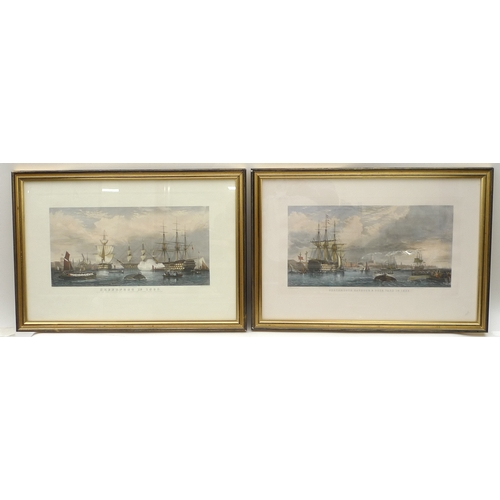94 - Thomas Abel Prior (1809-1866):after G. H. Andrews and E. Duncan two naval engravings of Portsmouth H...