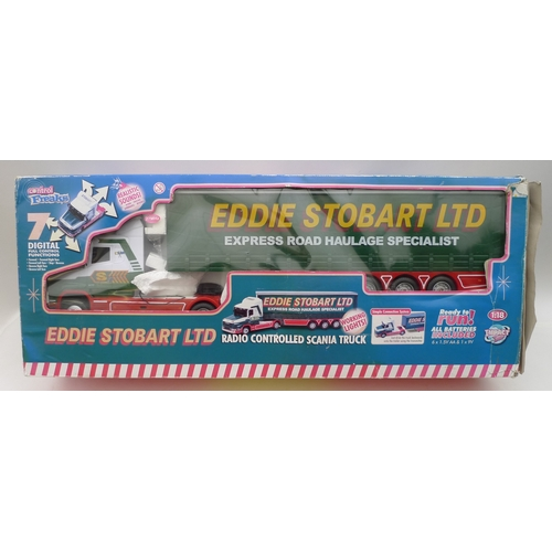 161 - An Eddie Stobart radio-controlled Scania truck, in original box....