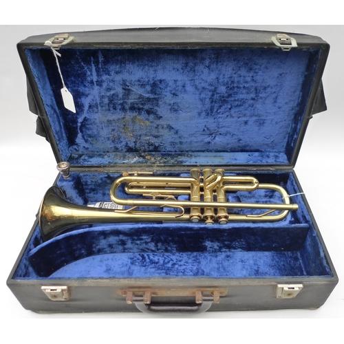 164 - A Barnes and Mullins vintage Champion trumpet, marked 'B&M Champion', V1936, serial number I32025, M...