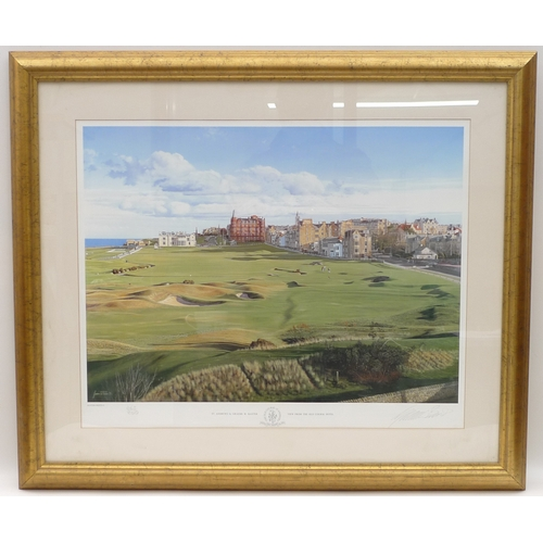 15 - Graeme W Baxter (British, 20th century): a large limited edition golf print depicting the 18th hole ...