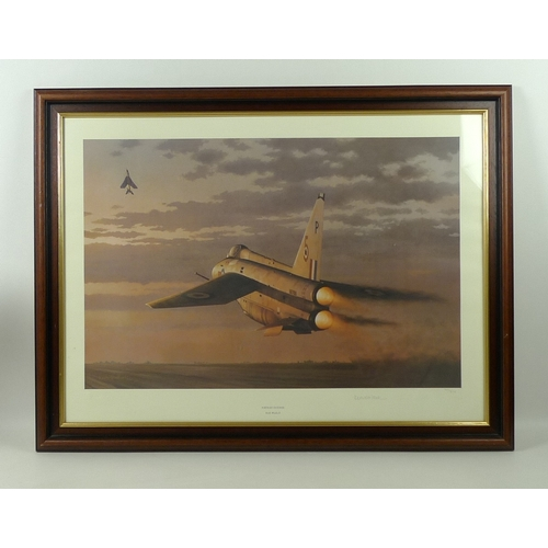 188 - A collection of three aircraft prints: the first, a limited edition print by Robin Smith, numbered 1...