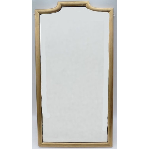 495 - An Edwardian gold painted wall mirror....