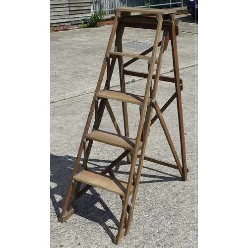 507 - A vintage wooden step ladder....