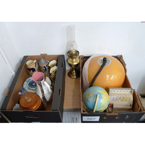 498 - A mixed group of items, comprising a Royal Doulton plate and two small Toby jugs, a boxed Pelham Pup...