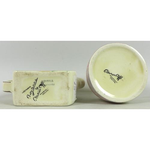 25 - An Art Deco Sadler OKT42 novelty tea pot, decorated with silver lustre against a ground, five-hole s...