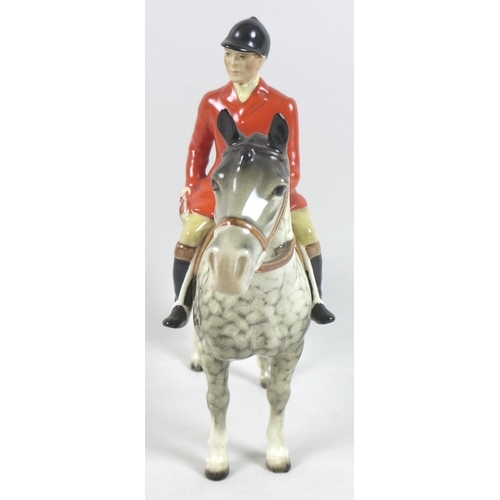1 - A rare Beswick model of a Huntsman, style two, standing, model 1501, designed by Arthur Gredington, ...