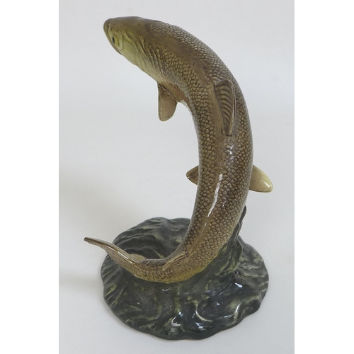 32 - A Beswick model of a trout, 1032, impressed and printed marks, 12cm by 15cm by 16.5cm high....