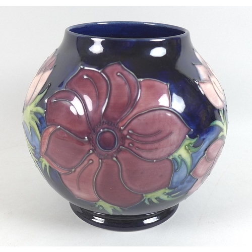 42 - Two Moorcroft Pottery vases, one of baluster form, decorated in the 'Simeon' pattern, impressed key ...