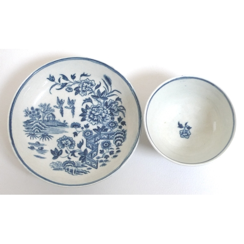 40 - A collection of late 18th and early 19th century porcelain cabinet teacups and saucers, comprising a...
