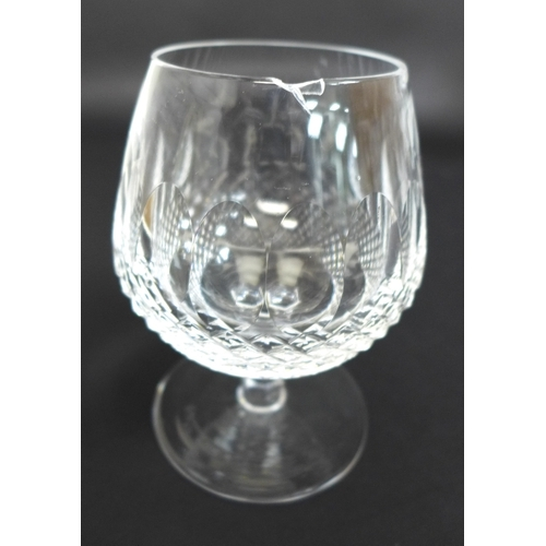 34 - A collection of mixed cut crystal drinking glasses, various patterns, including Waterford, Stuart, T...