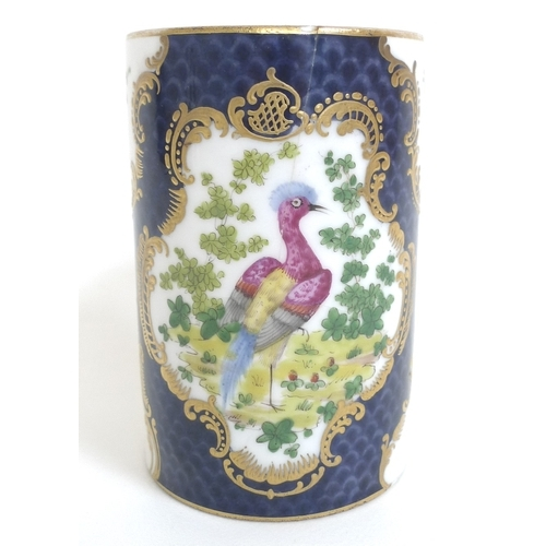 20 - A Chinese Export porcelain tankard, Qing Dynasty, late 18th century, decorated with a gilt bordered ...