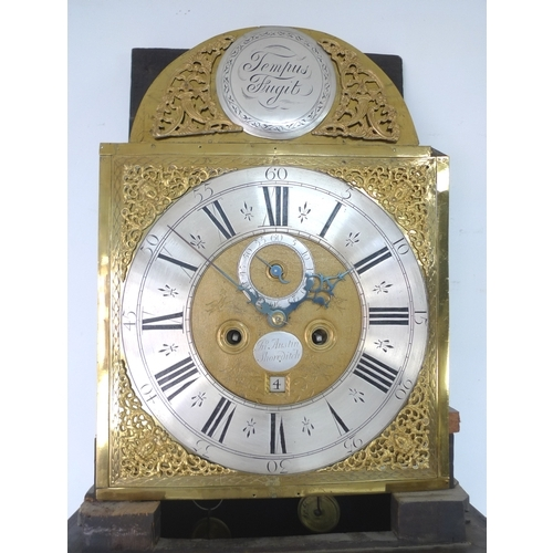 281 - A George III mahogany and inlaid long case clock, brass dial signed 'Jno Austin, Shoreditch' to appl...