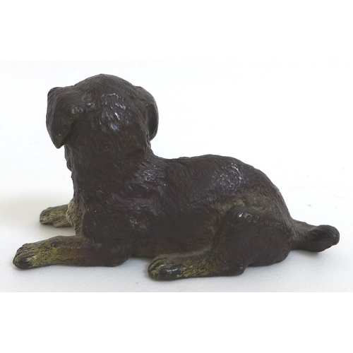 116 - An Austrian, Viennese, late 19th century cold-painted bronze sculpture, in the style of Franz Bergma...