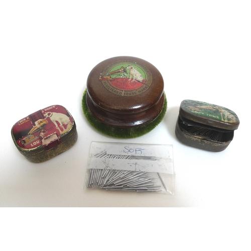 117 - An Edwardian His Master's Voice Monarch Junior Gramophone, The Gramophone Co. Ltd. London, oak cased...