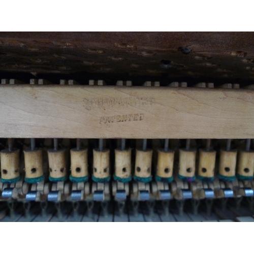 302 - A Challen & Son baby grand piano, circa 1920, overstrung metal frame, gloss black case, serial 35376...