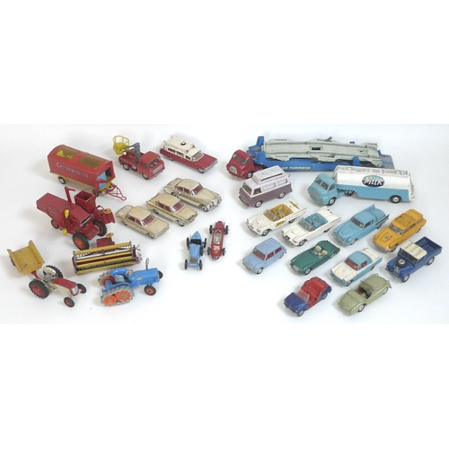 121 - A quantity of vintage Corgi, Corgi Major, Dinky and other model vehicles, comprising Dinky Ford Fair...