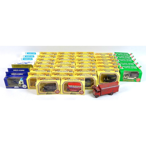 122 - A collection of model vehicles, comprising a Dinky Supertoys 'Guy' truck, red with 'Slumberland' dec...