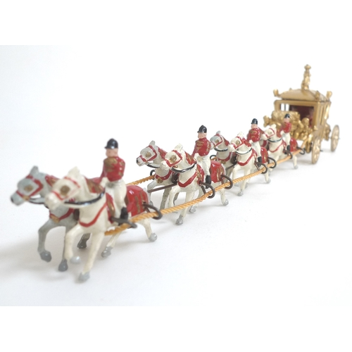130 - A John Hill and Co 'Coronation Procession' Set, containing painted lead figures of soldiers, cavalry...