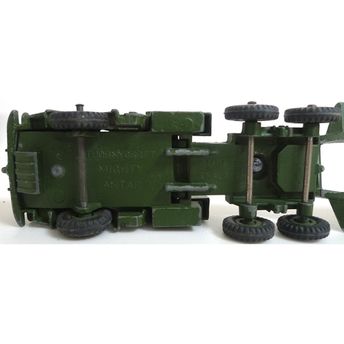 123 - A collection of mostly Dinky and Corgi toys, some military models, including a Tank Transporter, No....