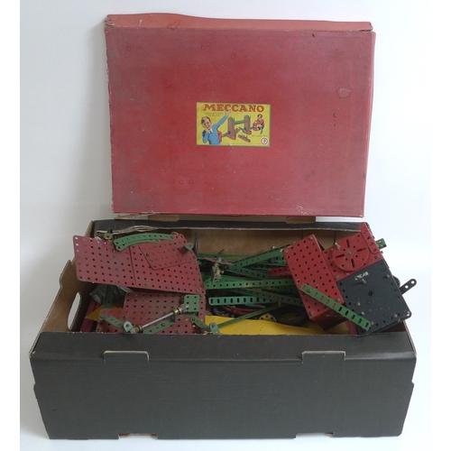 131 - A collection of vintage Meccano, including incomplete boxed set London 'Tower Bridge', and various f...