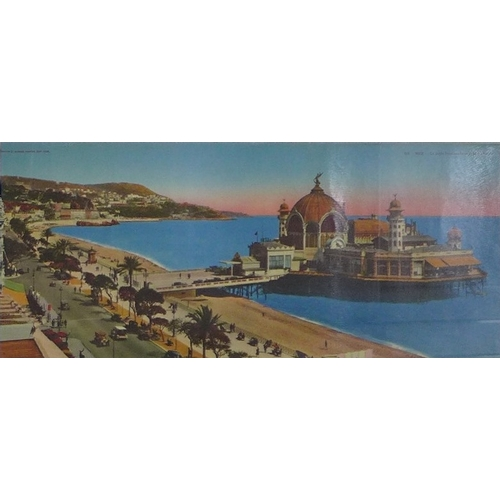 152 - A group of nine French tram posters, circa 1920s, chromolithographs, various makers including Rostan...