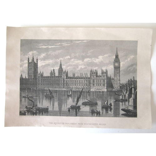 156 - After William Henry Prior (British, 1812-1882): a large of collection of sixty London engraving and ...