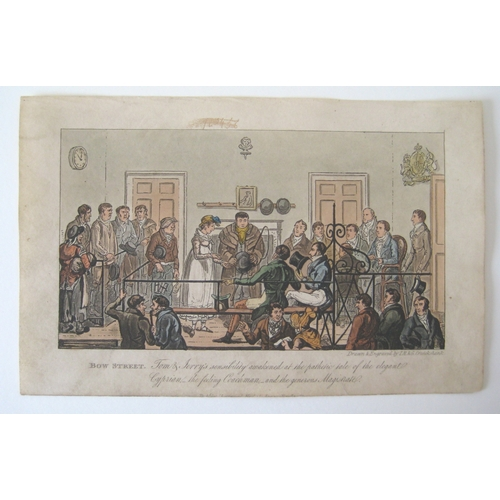 158 - After George Cruikshank (British, 1792-1878): a collection of social caricature engravings, from Pie...