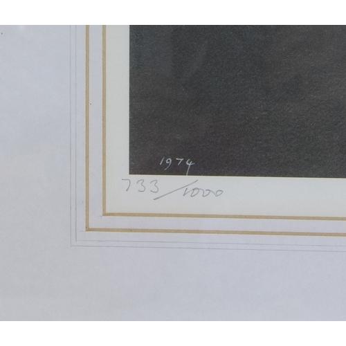 154 - After John Knapp-Fisher (British, 1931-2015): Abereiddy Evening, limited edition monochrome print, s...