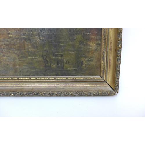 196 - Willem Leendert Bruckman (Dutch, 1866-1928):  view of the Quai Vert, Bruges, oil on canvas, signed a...