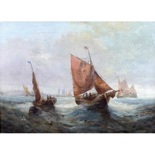 204 - George H. Knight (British, 1851-1922): a pair of marine scenes, 'Fishing off the Coast' and 'Fishing...